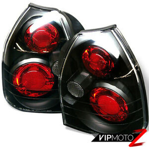 Black For Honda Civic 3dr Ek Ek9 Hatchback Tail Light Lamp 96 00 Cx Sir B16 Vtec