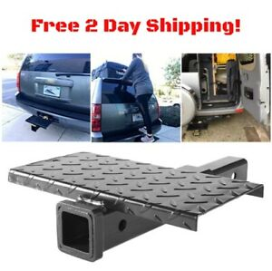 18 Hitch Extension Receiver Adapter 2 Extender W Step 4000 Lbs Tow Capacity