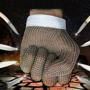 Safety Cut Proof Stab Resistant Stainless Steel Gloves Wire Metal Mesh Butcher