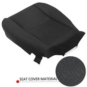 Driver Bottom Cloth Seat Cover Black For 07 14 Chevy Silverado 1500 Replacement