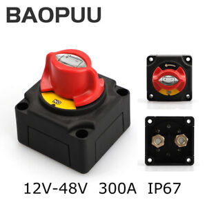 48v 300a Battery Isolator Disconnect Switch Power Cut Off On For Marine Boat