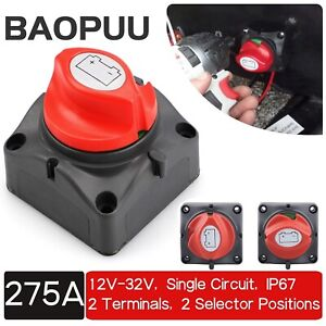 48v Battery Isolator Disconnect Rotary Switch Cut On off For Suv Rv Marine Boat