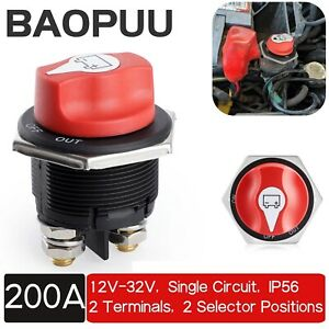 32v 200a Battery Isolator Switch Disconnect Power Cut Off Kill For Marine Boat