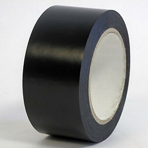 Black Colored Vinyl Tape 2in X 36 Yards Full Case Of 24 Rolls