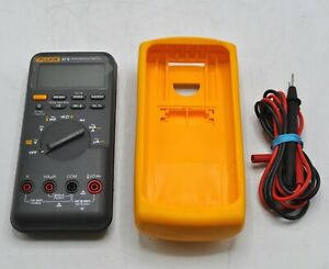 Fluke 87 V True Rms Multimeter With Leads Electrical Test Meters Detectors