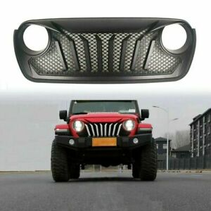 Black Grille For Jeep Wrangler Jl 2018 2019 Mesh Abs Grill Honecomb