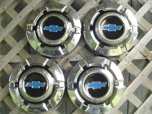 4 Vintage Gmc Jimmy Chevrolet Pickup Truck Blazer Hubcaps Wheel Covers 1 2 Ton