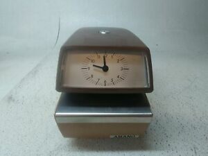 Amano Time Date Stamp Punch Clock Model Number 4746 No Key Fair Condition