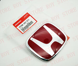 Jdm Red H Front Badge Emblem For Civic 2dr Coupe 2006 2011 03 17 Accord Sedan