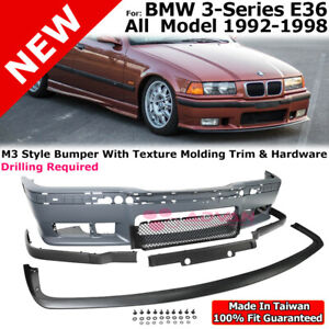 Front Bumper Cover Front Lip M3 Style For 92 98 Bmw 3 Series E36 Lower Spoiler
