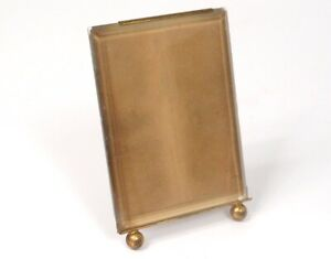 Small Frame Picture Holder Brass Golden Glass Antique Frame 19th Century