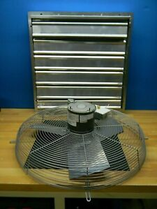 Tpi 1 4 Hp Enclosed Exhaust Fan 24 Blade Direct Drive Ce 24 ds