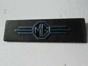 Vintage Mg Mgb Mga Car Emblem Dash Badge Trim Nameplate Oem Metal