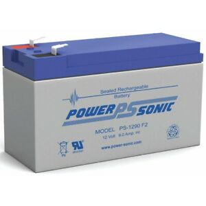 Power-Sonic 12V 9AH Replacement Battery for Lowrance Portable Fishfinder