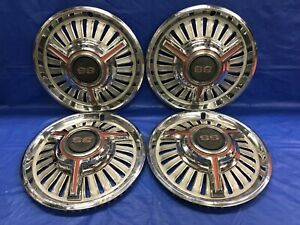 Vintage Set Of 4 1965 Chevrolet Ss 14 Hubcaps Chevelle Super Sport Good Cond