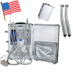 Dental Delivery Unit Air Compressor Water Treatment Cart Scaler Curing Light Usa