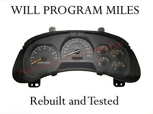 2002 05 04 Chevy Trailblazer Instrument Gauge Cluster 15241707 any Miles
