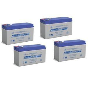 Power-Sonic 12V 9AH Battery Replaces Lowrance Portable Fish finder - 4 Pack