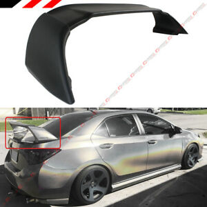 For 2014 2018 Toyota Corolla M Style Matt Black Jdm Stand Up Trunk Spoiler Wing