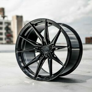 20 Staggered Rohana Rfx13 Wheels Rims Set 4 Black Forged 2015 Mustang Gt Eco Pp