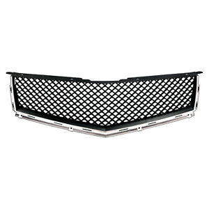 Fits 2010 2012 Cadillac Srx Black Chrome Bentley Style Mesh Replacement Grille