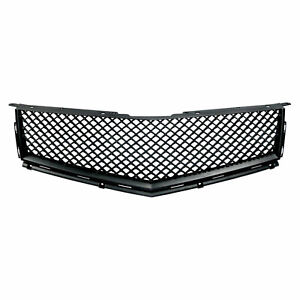 Fits 2010 2012 Cadillac Srx Black Bentley Style Mesh Replacement Grille Grill