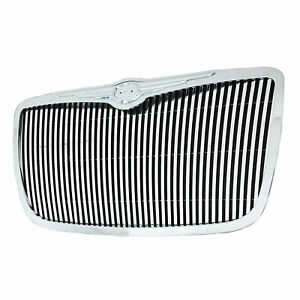 Fits 2005 2008 Chrysler 300 300c Chrome Abs Vertical Replacement Grille