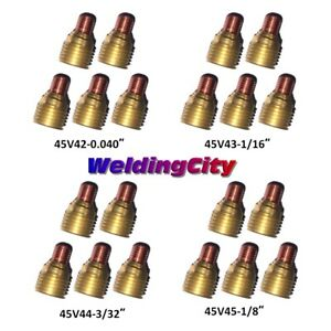 Weldingcity 20pk Assorted Gas Lens 45v42 45v45 040 1 8 Tig Welding Torch 9 20