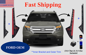 2011 2019 Ford Explorer Windshield Outer And Inner Trim Right Left Side Clips