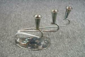 Bbi Silver Plated Three Candle Holder Display