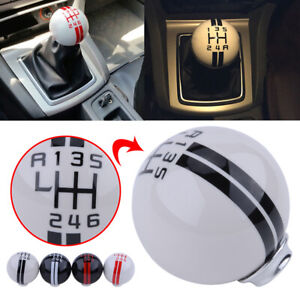 White Manual Stick Gear Shift Knob Handle 6 Speed For Ford Mustang Shelby Gt500