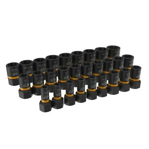 28 Pc 1 4 3 8 Drive Bolt Biter Impact Extraction Socket Set Kdt84784 New