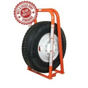 2 Bar Foldable Wide base Portable Tire Inflation Cage Mrimic 2wb Brand New