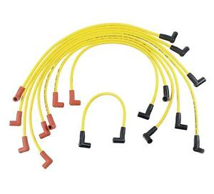Accel Spark Plug Wires Super Stock Rfi Suppression 8mm Yellow Stock Boots Gm V8