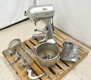 Hobart A 200 Commercial 20 qt Dough Mixer 3 speed Bowl lift hook whisk grinder