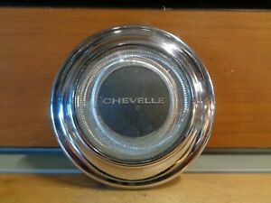 1967 Chevy Chevelle Steering Wheel Horn Pad Cap Button Chrome Emblem Badging