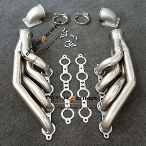 Ls1 Ls6 Lsx Gm V8 Turbo Exhaust Header Manifold Elbows T3 T4 To 3 0 V Band New