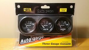 Auto Meter Auto Gage 2348 3 Gauge Set Oil Volts Water New Never Opened