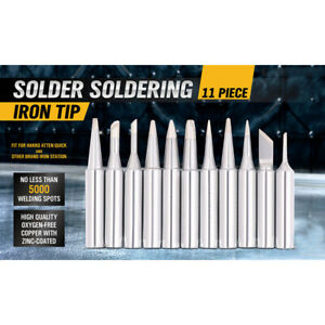 11x Solder Screwdriver Iron Tips Rework Lead Free To Hakko Soldering Station Set