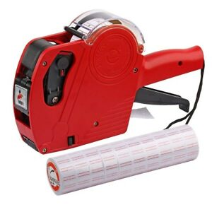 Price Gun With Labels Stickers Retail Pricing 8 Digits Tagging Labeler Rolls Ink