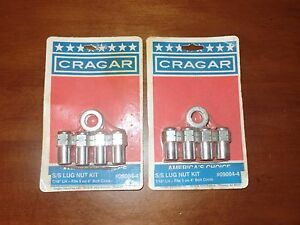 New Old Stock Cragar Wheel Ss Or S s Lug Nuts 2 Kits As Shown