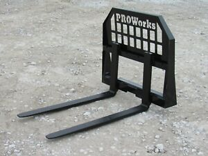 42 Long Pallet Forks Attachment Fits Bobcat Mt 50 52 55 453 S70 Mini Skid Steer