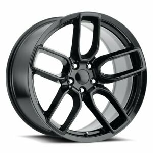 Factory Reproductions Fr 74 Dodge Widebody Rim 20x10 5 5x115 Et 9 Blk qty Of 4