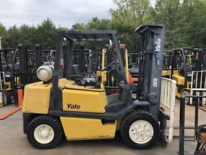 Yale Glp080 Pneumatic Forklift Low Hours