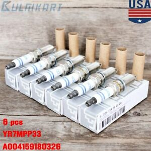 6pcs Bosch Yr7mpp33 Spark Plugs For Mercedes Benz Double Platinum Germany Us
