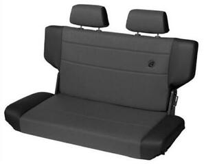 Bestop Seat Trailmax Fold And Tumble Rear Bench Fabric Black Fits Jeep Wrangler