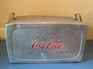 Vintage Aluminum Coca-Cola Picnic Cooler - Nice Condition