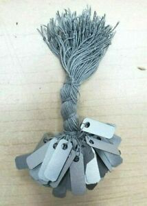 Silver Knotted Jewelry String Price Tags Blank 200 500 1000 Pcs 1 4 X 3 4