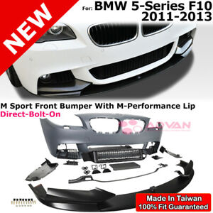 Front Bumper M Sport Style M Performance Lip Kit For Bmw 5 Series 11 13 F10