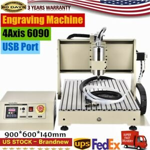 6090 Usb 4axis Router Engraver Metal Carving Drilling milling Machine 3d Cutter